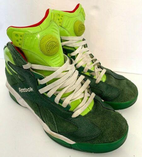 REEBOK PUMP SHAQ Attaq size 10 2013 Green Grinch Ghost Christmas attack