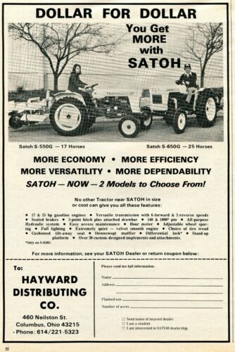 Satoh tractor on Shoppinder
