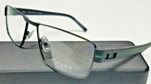 a57e1cf5fb31 Authentic MOREL OGA FRANCE Mens Optical Eyeglasses Frames 7921O Black Green  NEW