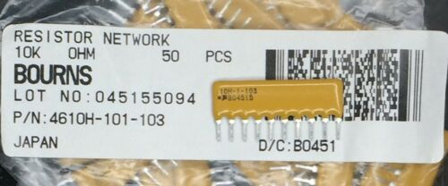 10 pieces Resistor Networks /& Arrays 3.3K 10Pin 2/% Isolated