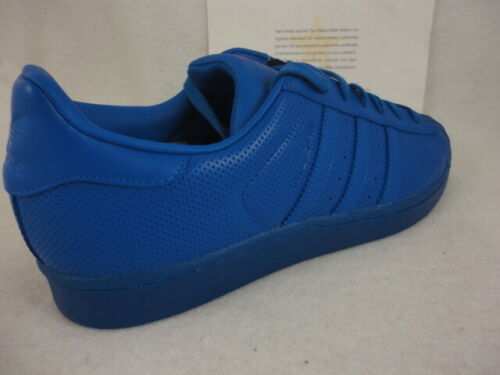 new arrival 500c6 15e50 Adidas Superstar Adicolor, Blue   Blue, Shell Toe Leather, S80327, Size 13