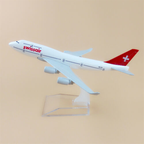 Provided Boeing 747-200 Swissair Wood Desktop Airplane Model Airlines Transportation Collectables
