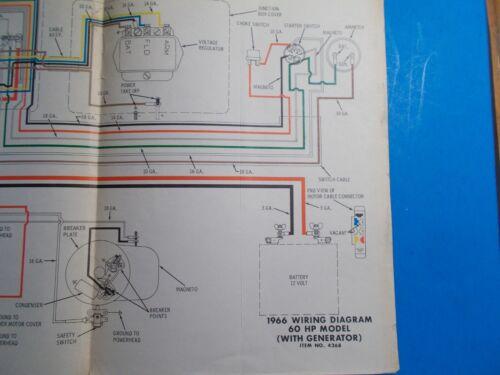 1966 johnson outboard motors 60hp model with generator wiring diagram  js-4268