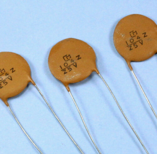 LS 5mm 50pcs Murata Ceramic Capacitor.1uF 25v 104Z 20 ±/% 7mm Discs