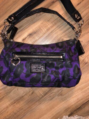 f8febfa06d11 Coach Crossbody Purse Handbag H1281-F20024 Dark Purple And Black