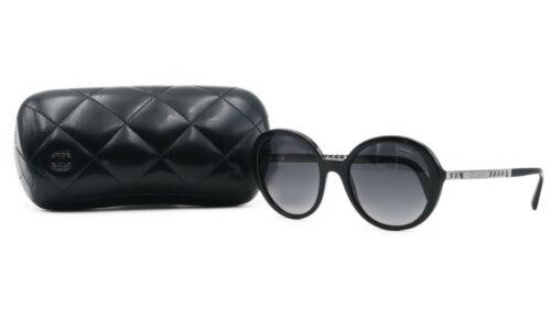 fb149b020a CHANEL Women  s Black Silver Sunglasses w case CH 5353 C.501