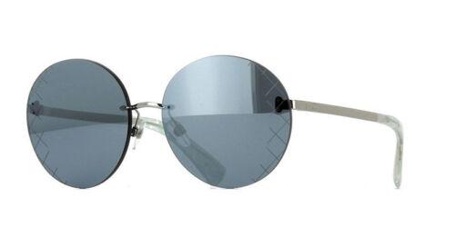 a90ecdf4a6b6a CHANEL 4216 c.124 6G Silver Runway Round Crosshatch Mirror Sunglasses  5817140
