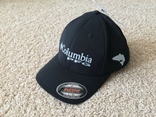 90769b0c6955a Columbia PFG Pique Fishing Flexfit Hat Cap size L XL Black