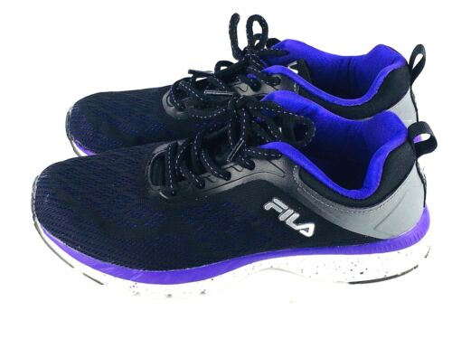 d97e311e52b Fila Women\'s 7 Memory Outreach Foam Shoes Black Purple Athletic (#142J