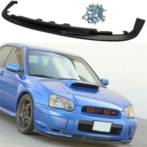 Unpainted Rear Bumper Splitters Flaps Aprons Fit for Subaru Impreza WRX 2004-05