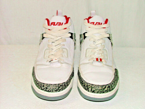 cb6e82bf234f Fubu Men  s White Leather Athletic Court Basketball Sneakers Shoes Size 12