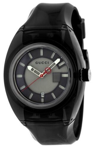 2e7f389de7a Gucci Sync XXL 44mm Quartz Grey Dial Rubber Strap Men  s Watch YA137111