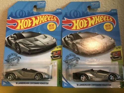 /'16 Lamborghini CENTENARIO ROADSTER #213 Silber Exotics 2019 I hot wheels M