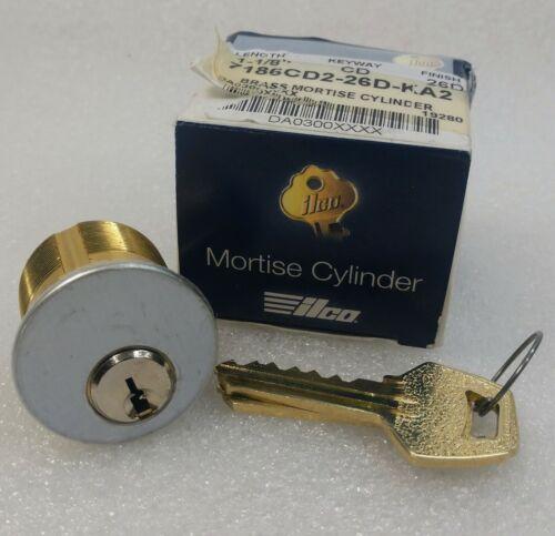 "Satin Chrome - 26D Premium Mortise Cylinder SC1 // KW1 1-1//4/"""