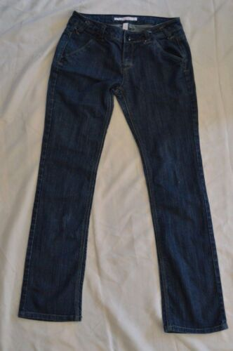 Women's Clothing Mossimo Jeans Junior Size 15 casual Skinny Stretch Dark Wash Blue Euc Pants