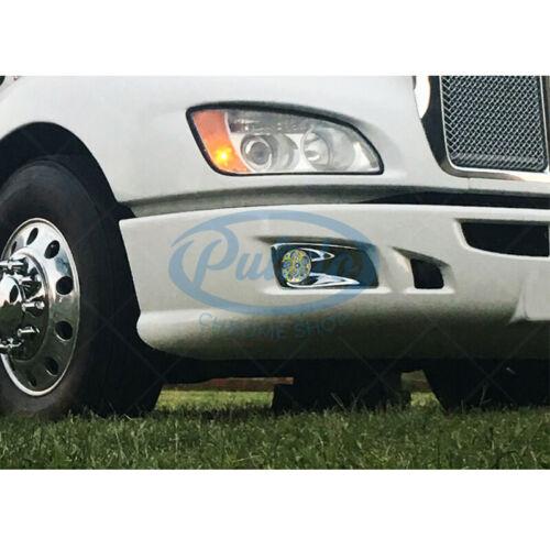 Vintage Car & Truck Lighting & Lamps KENWORTH T660 & PETERBILT579/587 Full LED Chrome Foglight PAIR