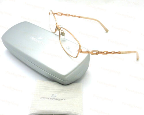 c31cbbc3e9b8 NWT Authentic Swarovski Made In Italy Optical Frame Rose Gold/Crystal  Accents