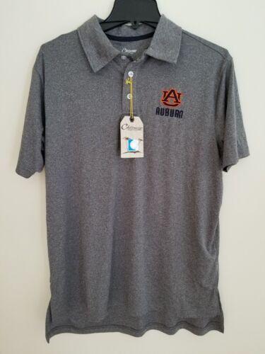 d8472fd44 NWT Auburn University Tigers Chiliwear Gray Dri-Fit Polo Men  s Small Retail