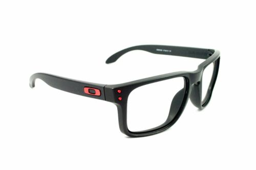 84167e0e297 OAKLEY HOLBROOK MATTE BLACK RED ICONS REPLACEMENT (FRAME ONLY) AUTHENTIC