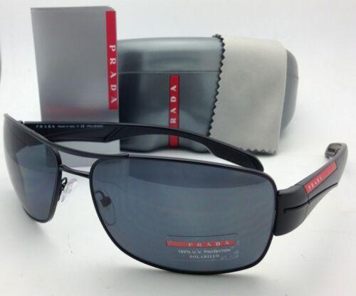 9b033a0e4acd3 Polarized PRADA Sport Sunglasses SPS 53N 1BO-5Z1 65-16 Matte Black w
