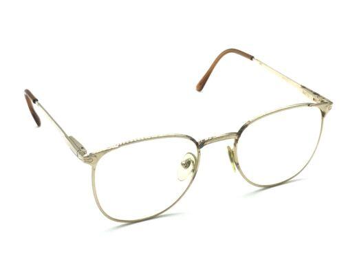 cbc4ac3e7a32a Persol Ratti Alya Gold Round Designer Eyeglasses Frames 51-20 140 Vintage  Rare