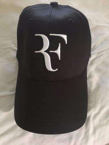 meet 9884d 2bee2 RARE Roger Federer Nike Black and White Cap Hat RF Australian Open 2009