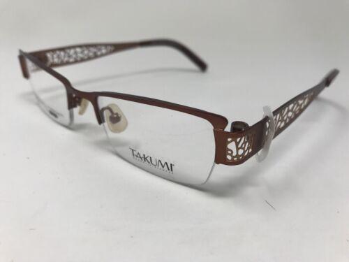 0854511933e TAKUMI Halfrimless Eyeglasses Womens T9705 48-18-135 Brown TA97. View  Details
