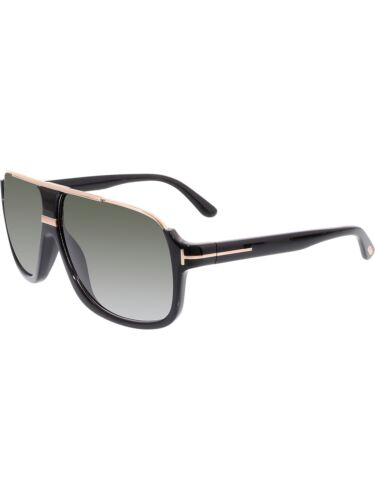 70e72df103 Tom Ford Men  s Gradient Elliot FT0335-01P-60 Grey Aviator Sunglasses
