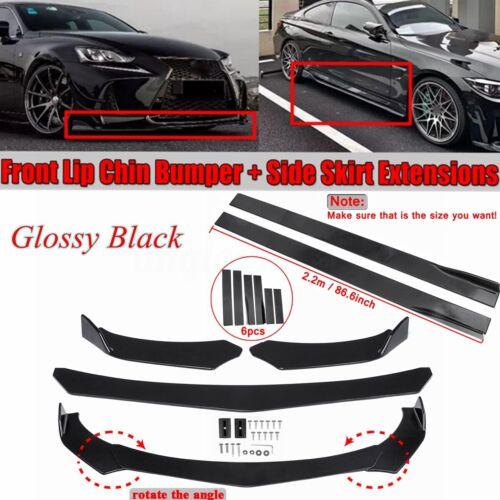 "26/"" x 6.5/"" Universal Texture Splitter Rear Bumper Diffuser Fins For Audi BMW"