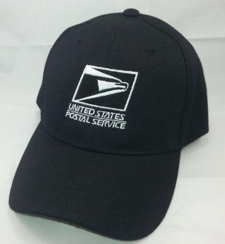 8aa1addff41 USPS Embroidered Baseball Hat Black w White Embroidery   USPS LOGO 1 Cap
