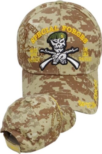 15ec6472600a8 US Army SPECIAL FORCES Ball Cap Ranger Green Beret OEF OIF Gulf Hat DESERT  CAMO