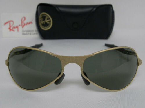 c3005f64f2 Vintage B L Ray Ban Orbs Metal Deluxe Oval Aviator Matte Gold W2374 NOS