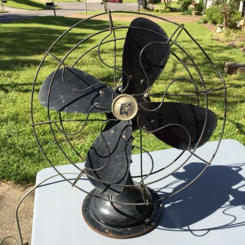 """vintage robbins myers 18"""" oscillating desk fan 1930-35 working condition 3  speed"""
